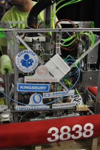 2014 Sponsors displayed on our robot.