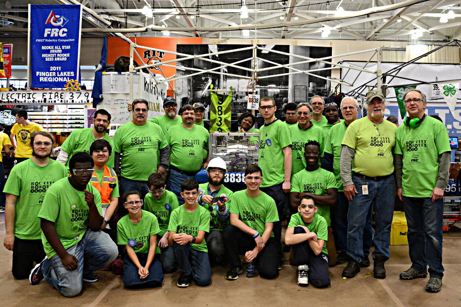 Roc City Robotix 2017 Team Picture at RIT Finger Lakes Regional