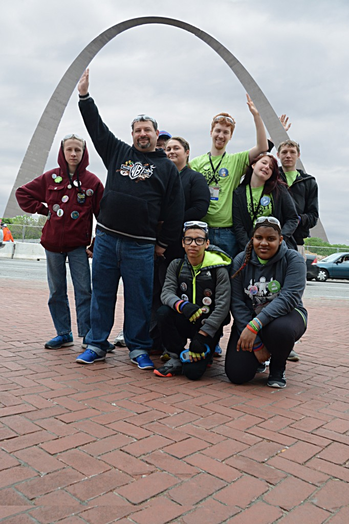 Helping to hold up the St. Louis Arch.