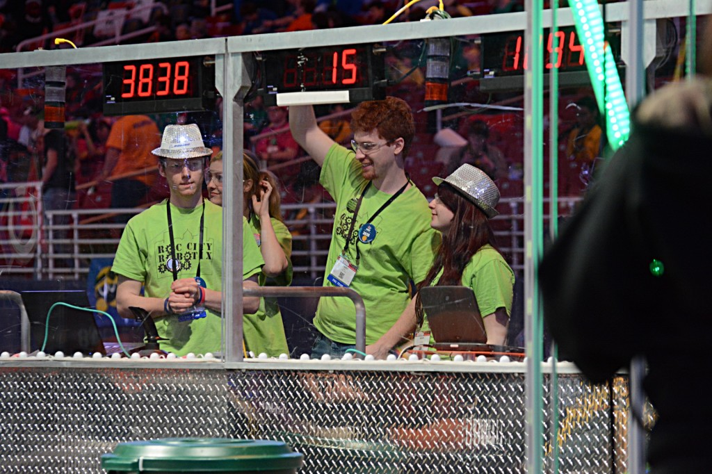 In this corner, Team 3838 Roc City Robotix. Hailing from Rochester NY and sponsored by the Rochester City School District.
