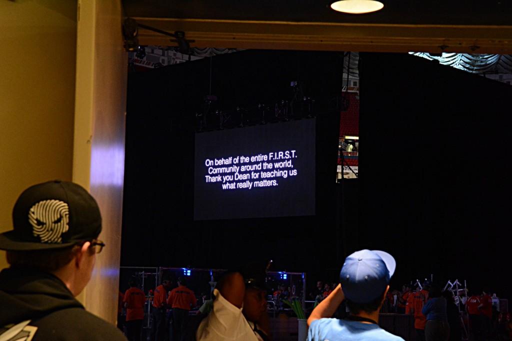 Team 1448, Parsons Vikings, from Parsons, Kansas thanking Dean Kamen during their Queen parody.