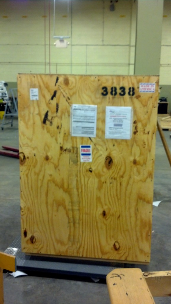One Robot Crate under 400 lbs.